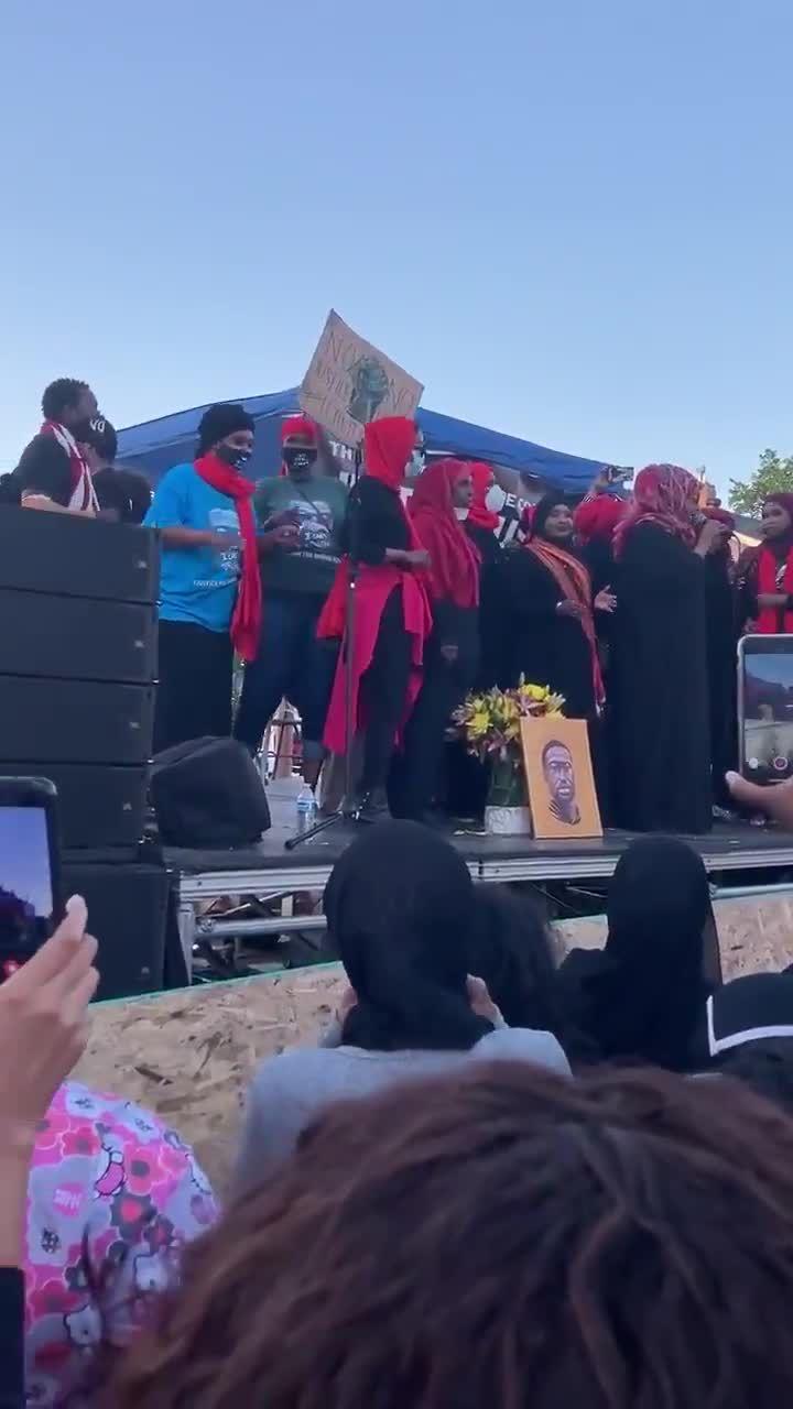 Minneapolis Somali Women Sing in Tribute to George Floyd
