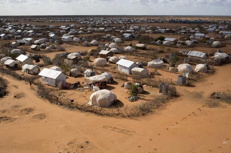 An aerial view shows an extension of the Ifo camp, one of the several refugee settlements in Dadaab, Garissa County, northeastern Kenya, October 7, 2013. REUTERS