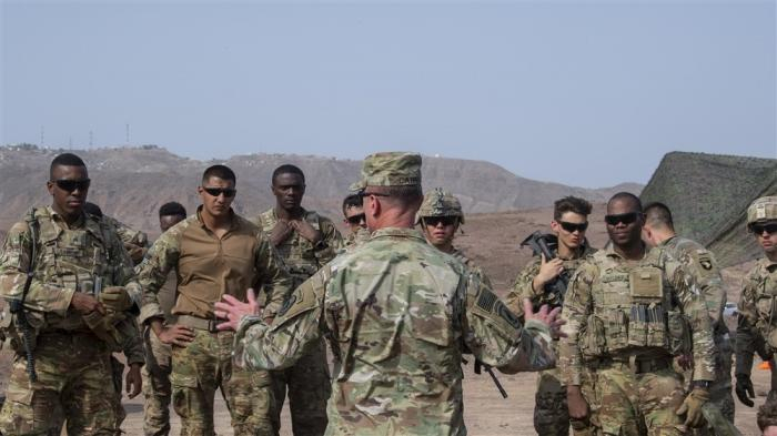 East African Response Force (EARF) soldiers in Djibouti last August. (U.S. Air Force photo by Staff Sgt. J.D. Strong II)