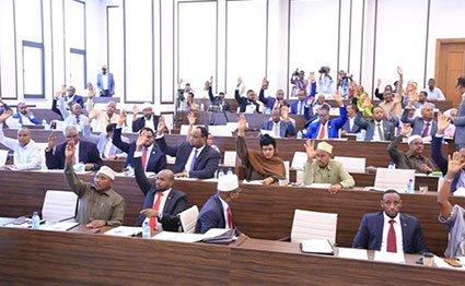 The Lower House of Somalia's Parliament in a session in Mogadishu. PHOTO | COURTESY
