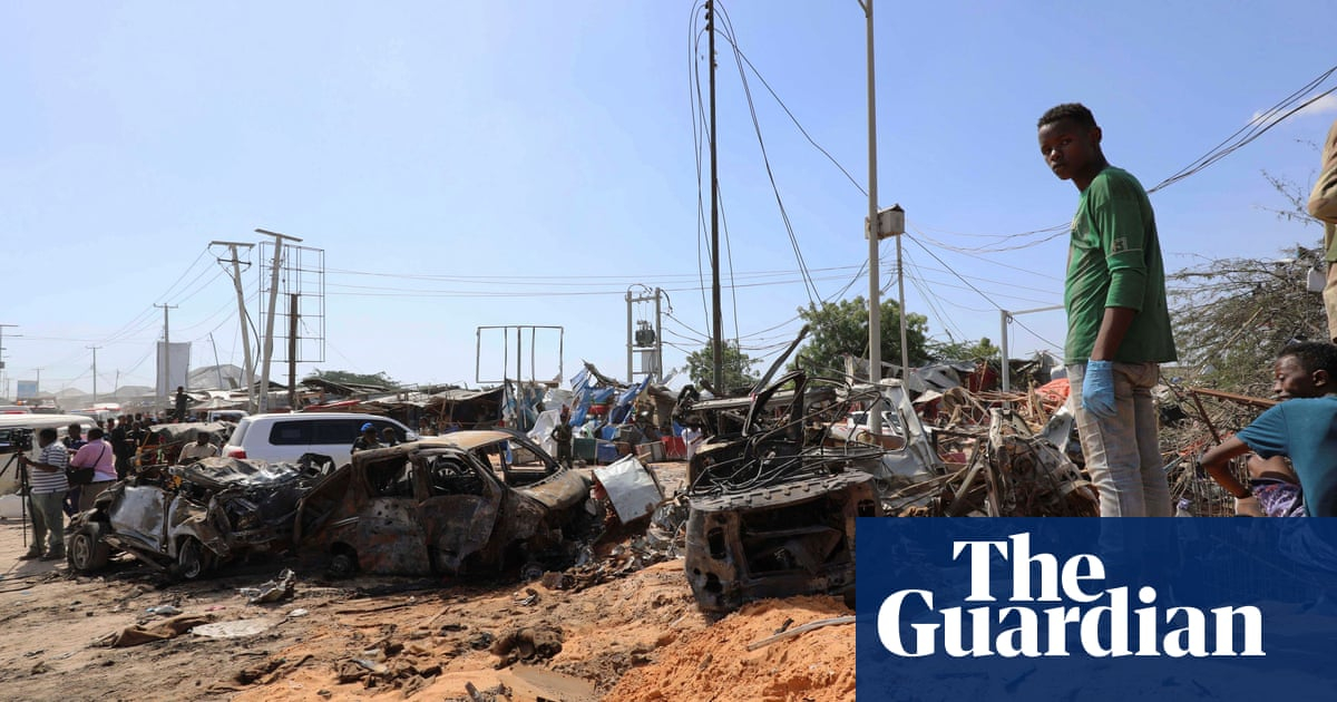 Aftermath of fatal truck bomb explosion in Mogadishu – video