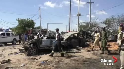 Bomb blast at Mogadishu checkpoint kills at least 90 | Watch News Videos Online