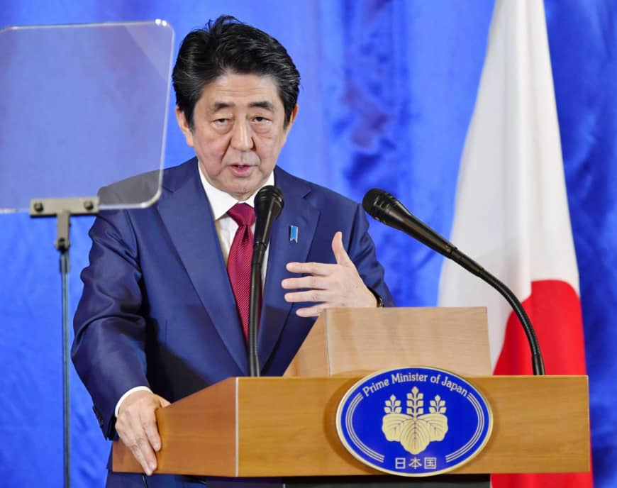 Abe plans to visit Mideast next month ahead of SDF's deployment