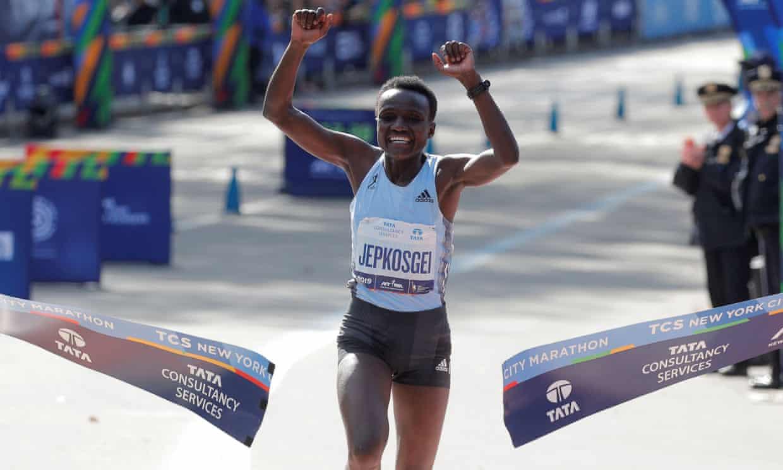Athletics-Kenyans Kamworor, Jepkosgei claim New York Marathon titles