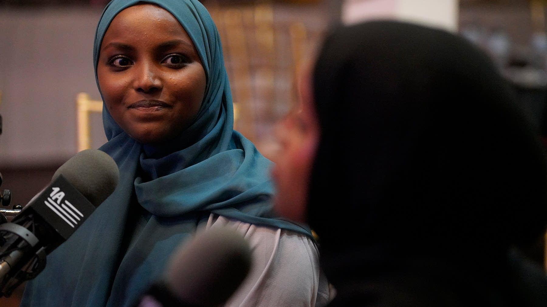 Nadia Mohamed made history Tuesday night, Nov. 5, 2019, by becoming first Somali elected to St. Louis Park City Council. Dymanh Chhoun | Sahan Journal