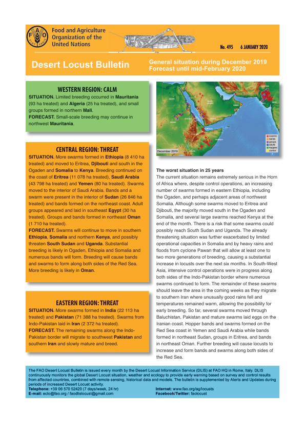 Desert Locust Bulletin 495 (6 January 2020) - World