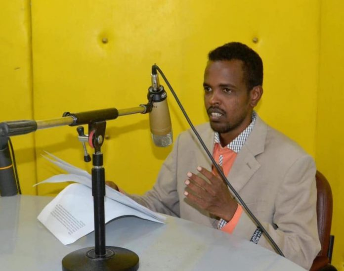 Goobjoog Media journalist, Abdiaziz Gurbiye released from jail on bail on 18 April, 2020 but can not write about Covid-19. | Photo: Courtesy/SJS.