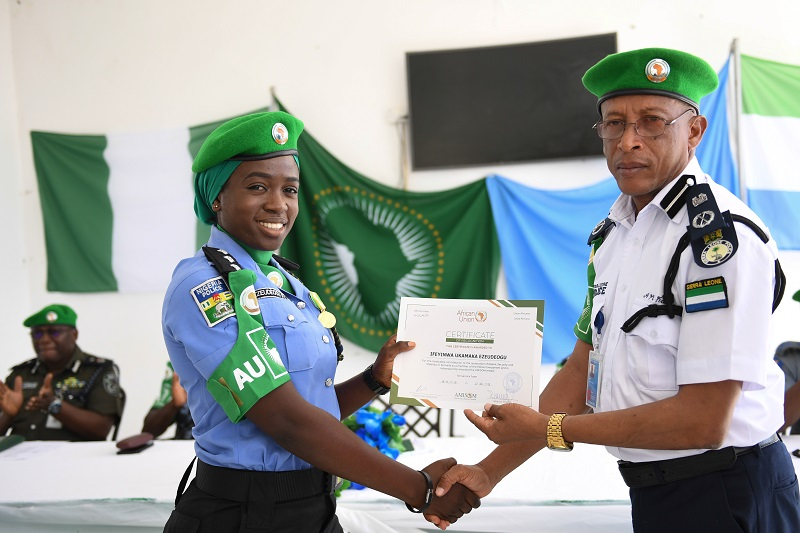 AMISON honors officers for contributing to peace in Somalia