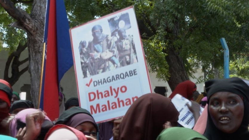 Protesters demanded that more be done to stop al-Shabab attacks in the country