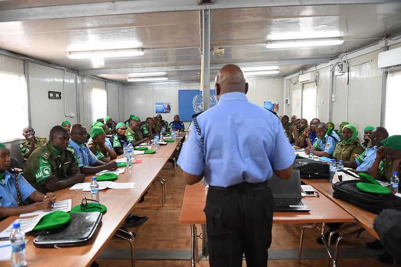 AMISOM conducts an induction training to orientate 37 newly deployed police officers