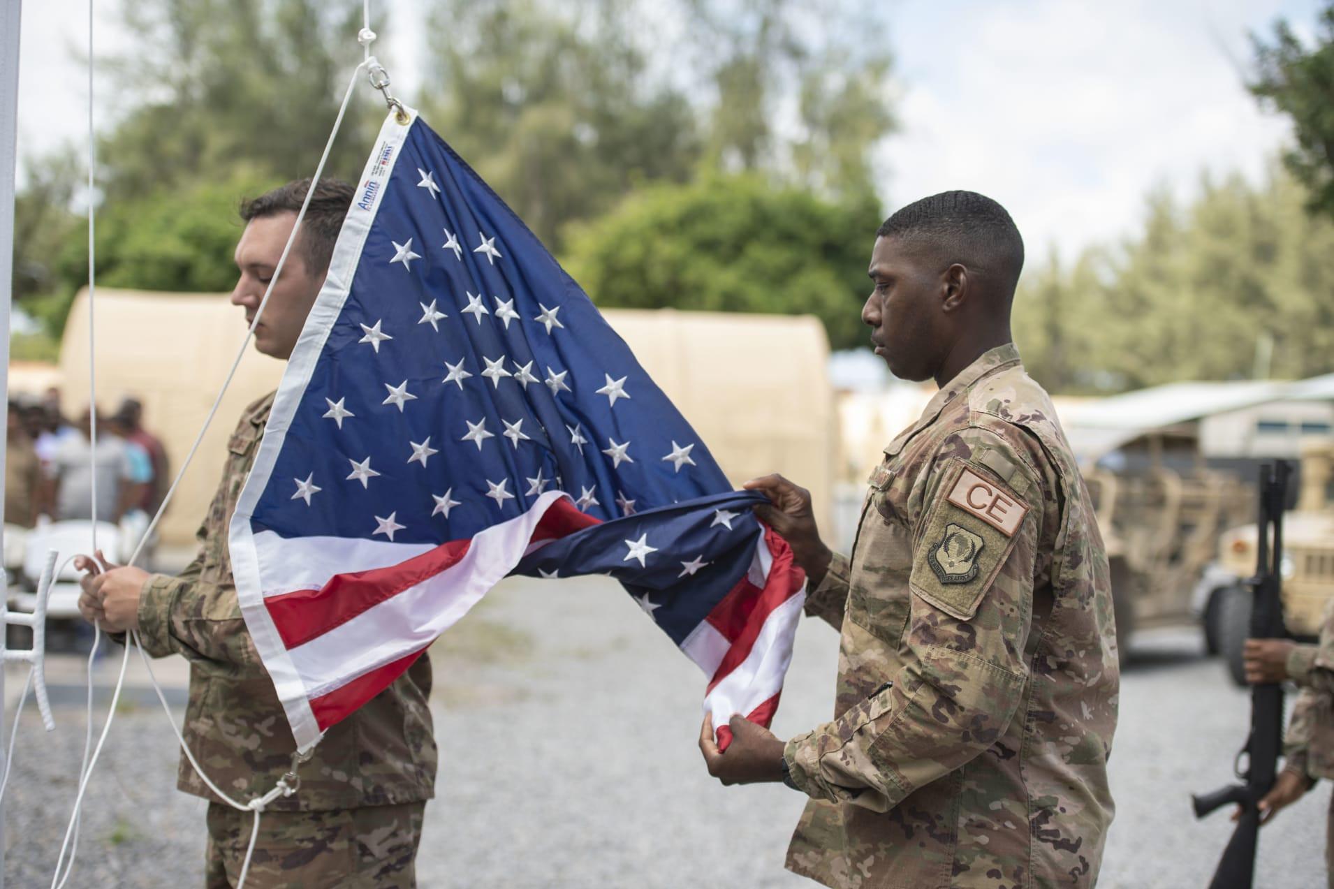 US troops at at Camp Simba, Manda Bay, Kenya.