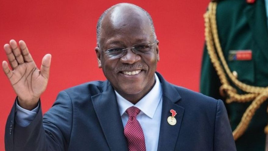 John Magufuli praised worshippers for not wearing masks and gloves