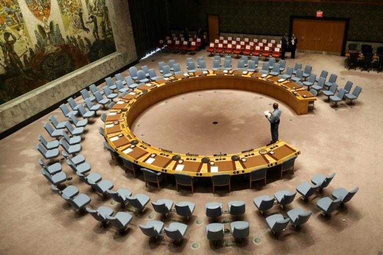 The UN Security Council room seen in 2017 (AFP Photo/Stephane LEMOUTON)