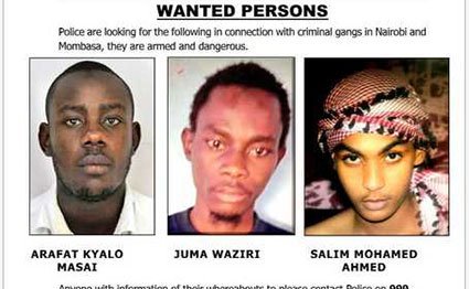 Kenyan Police reveal wanted terror suspects