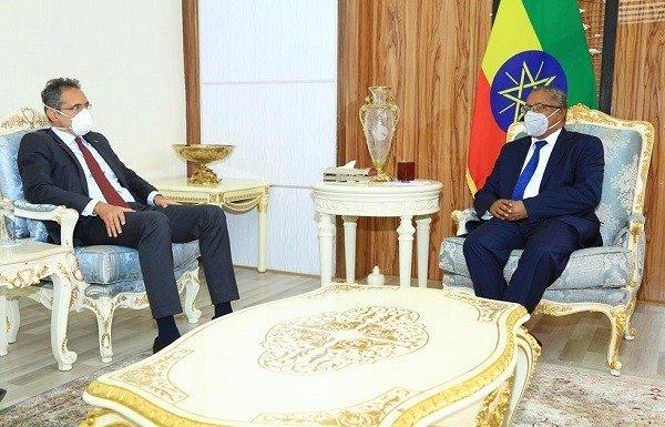 EU Ambassador to Ethiopia, Johan Borgstam, meeting with Gedu Andargachew. borkenaJune 11, 2020
