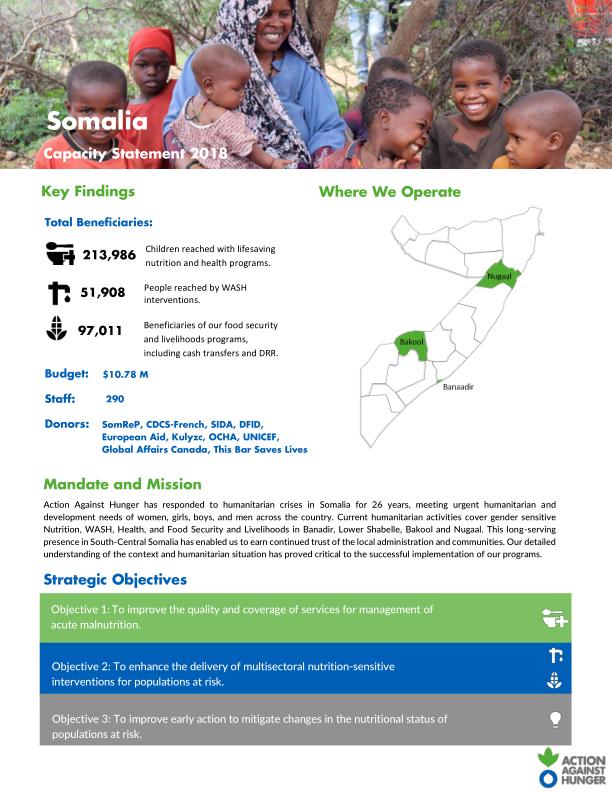 Somalia: Capacity Statement 2018 - Somalia