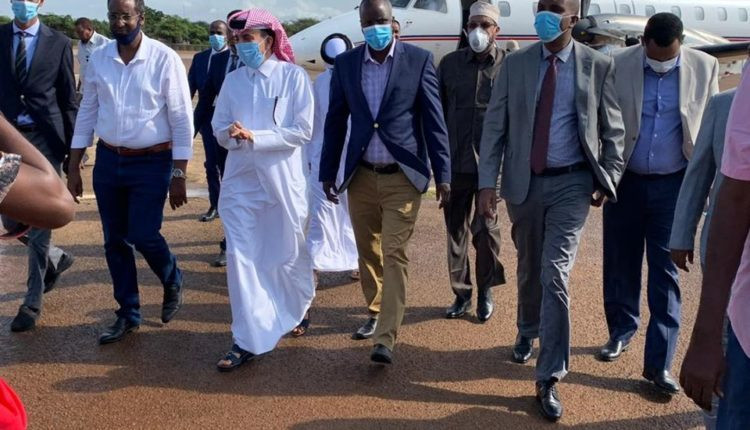 Qatari Ambassador Lands in Kismayo, Somalia to Launch Development Projects