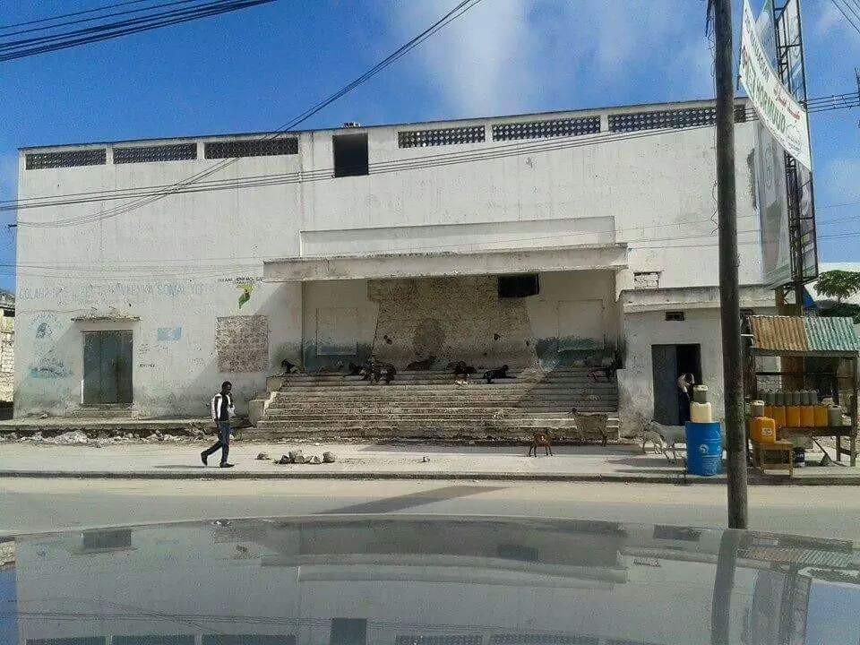 An abandoned cinema in Mogadishu.