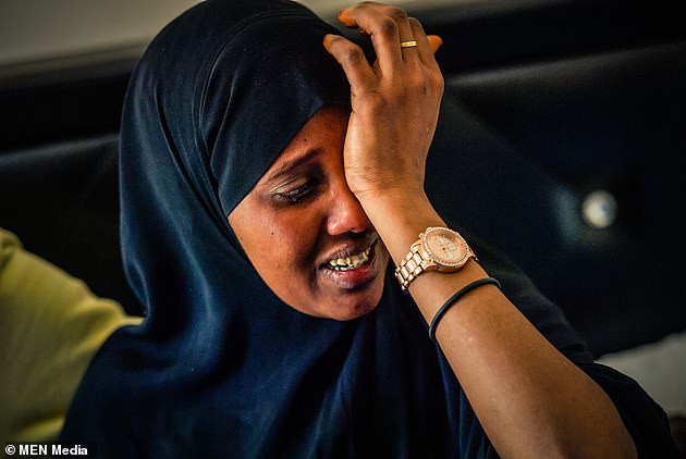 Ms Ture is pictured in tears in the immediate aftermath of her daughter's death