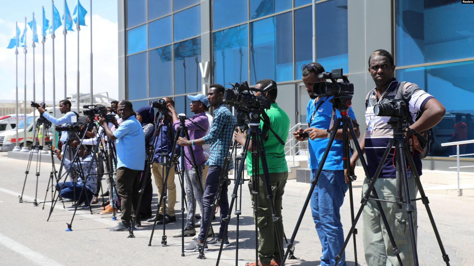 Somali journalists in Mogadishu, Somalia, December 29, 2019.