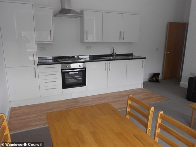 A photo taken by Wandsworth Council of the flat the Somalian pair were offered to live in