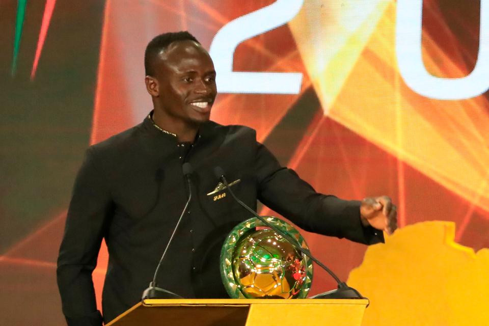 Senegal winger Sadio Mane speaks after winning the Player of the Year award during the 2019 CAF Awards in the Egyptian resort town of Hurghada on January 7, 2020. (Photo by Khaled DESOUKI / AFP) (Photo by KHALED DESOUKI/AFP via Getty Images)AFP via Getty Images